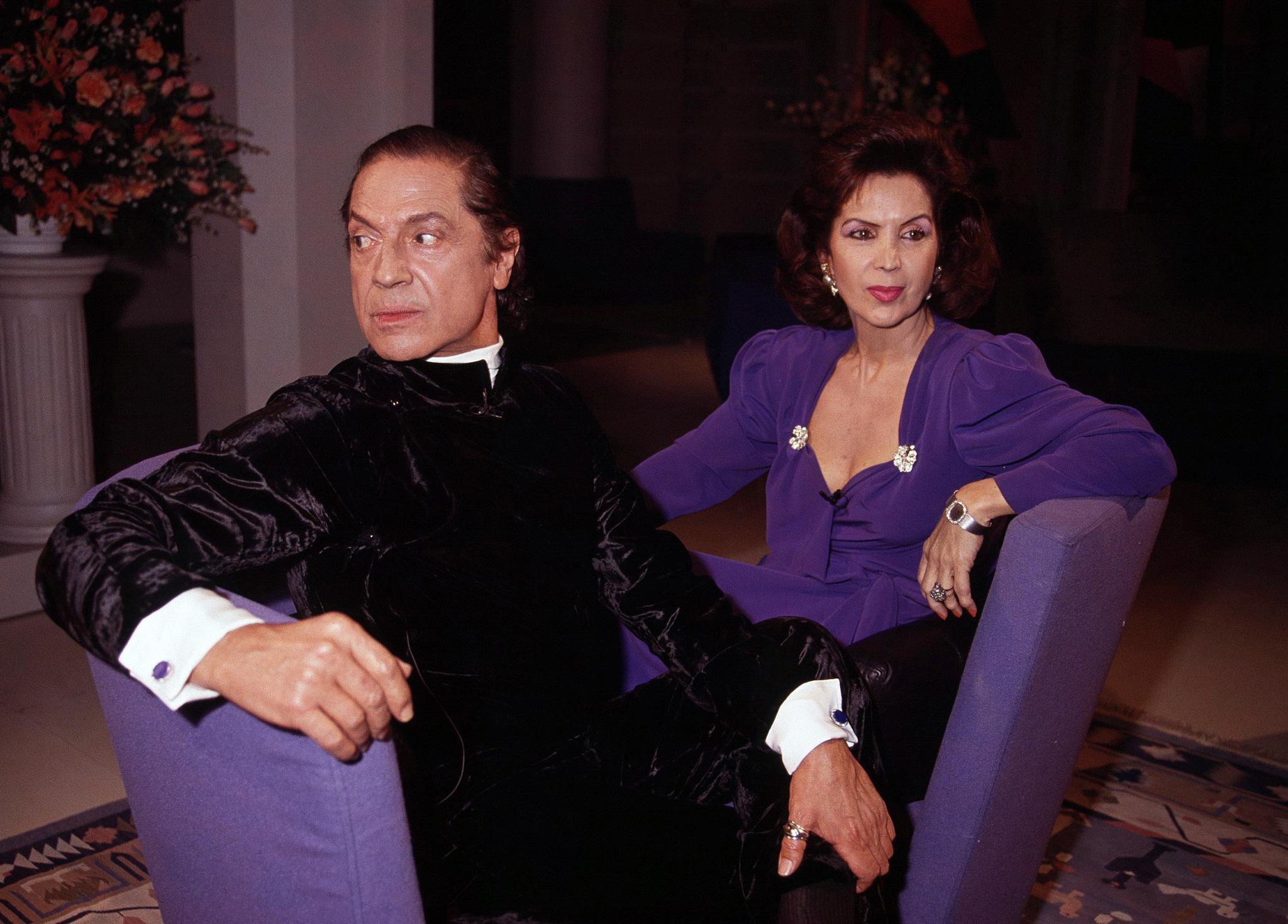 Antonio junto a su amiga, la bailarina María Rosa.