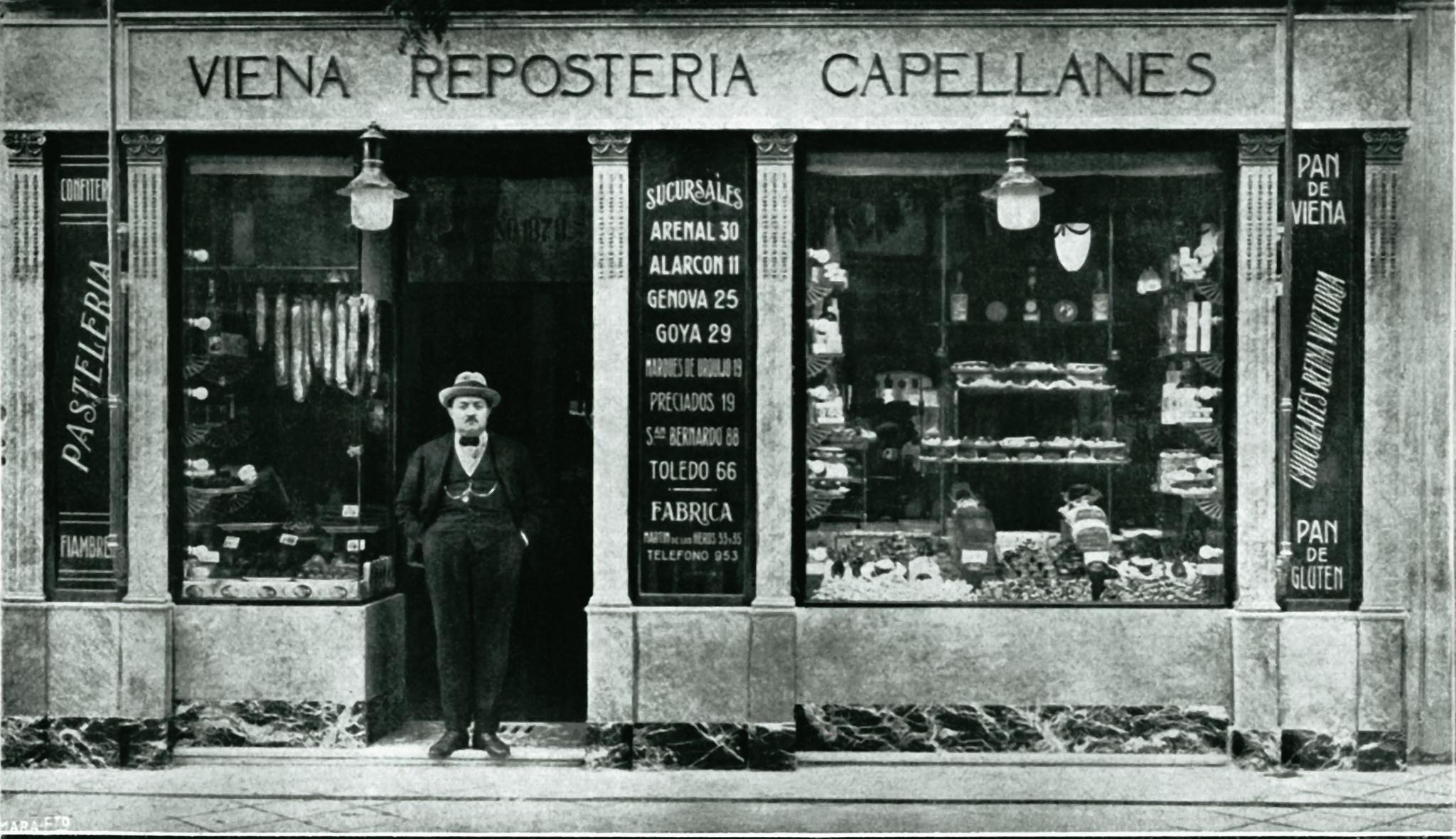 El Viena Capellanes de la calle Alcalá en una imagen de 1918, el año de su inauguración.