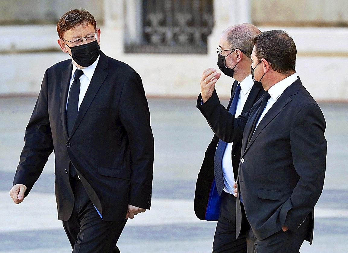 Puig, Lambán y Page, tres de los presidentes del PSOE.