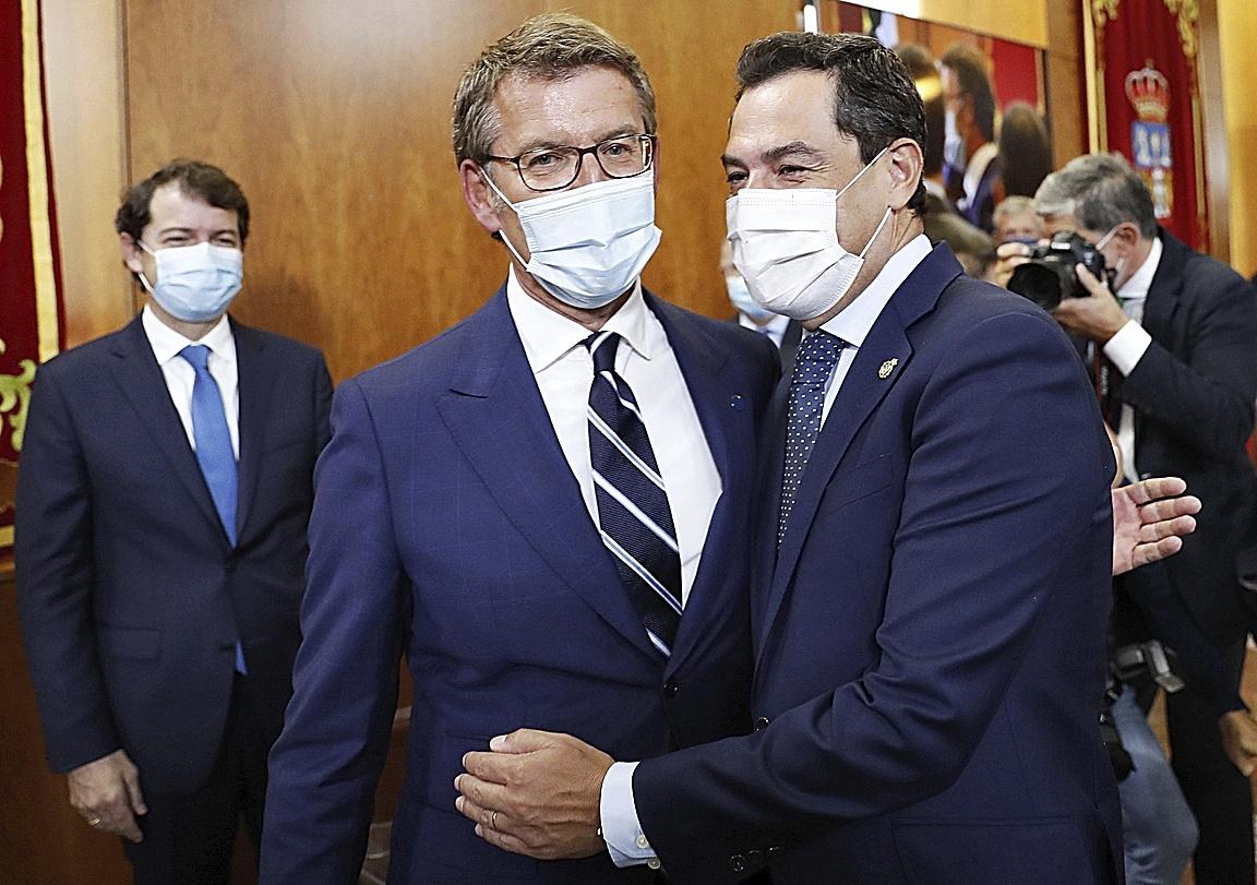Fernández Mañueco, Moreno y Feijóo, tres presidentes autonómicos del PP.