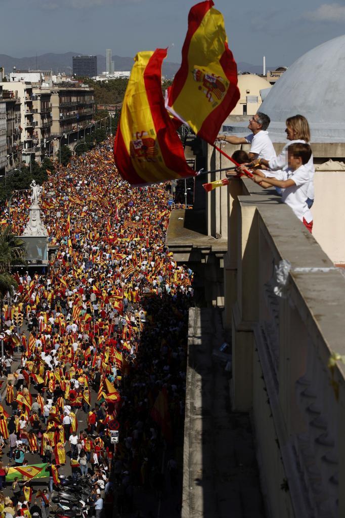 Imagen de la manifestación de octubre de 2017