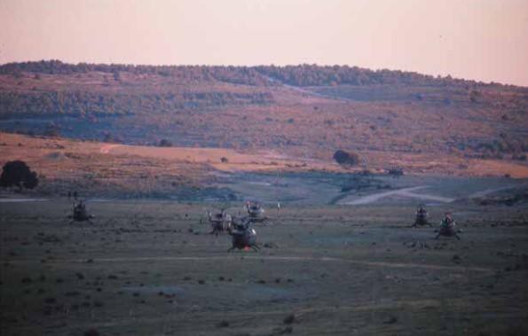 Vista general del campo de maniobras del Ejército de Tierra en la localidad albaceteña de Chinchilla.