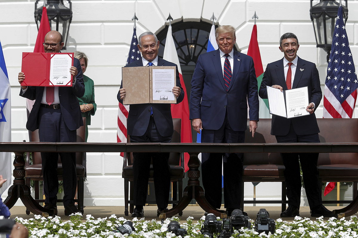 Ceremonia de la firma de los acuerdos de Abraham.