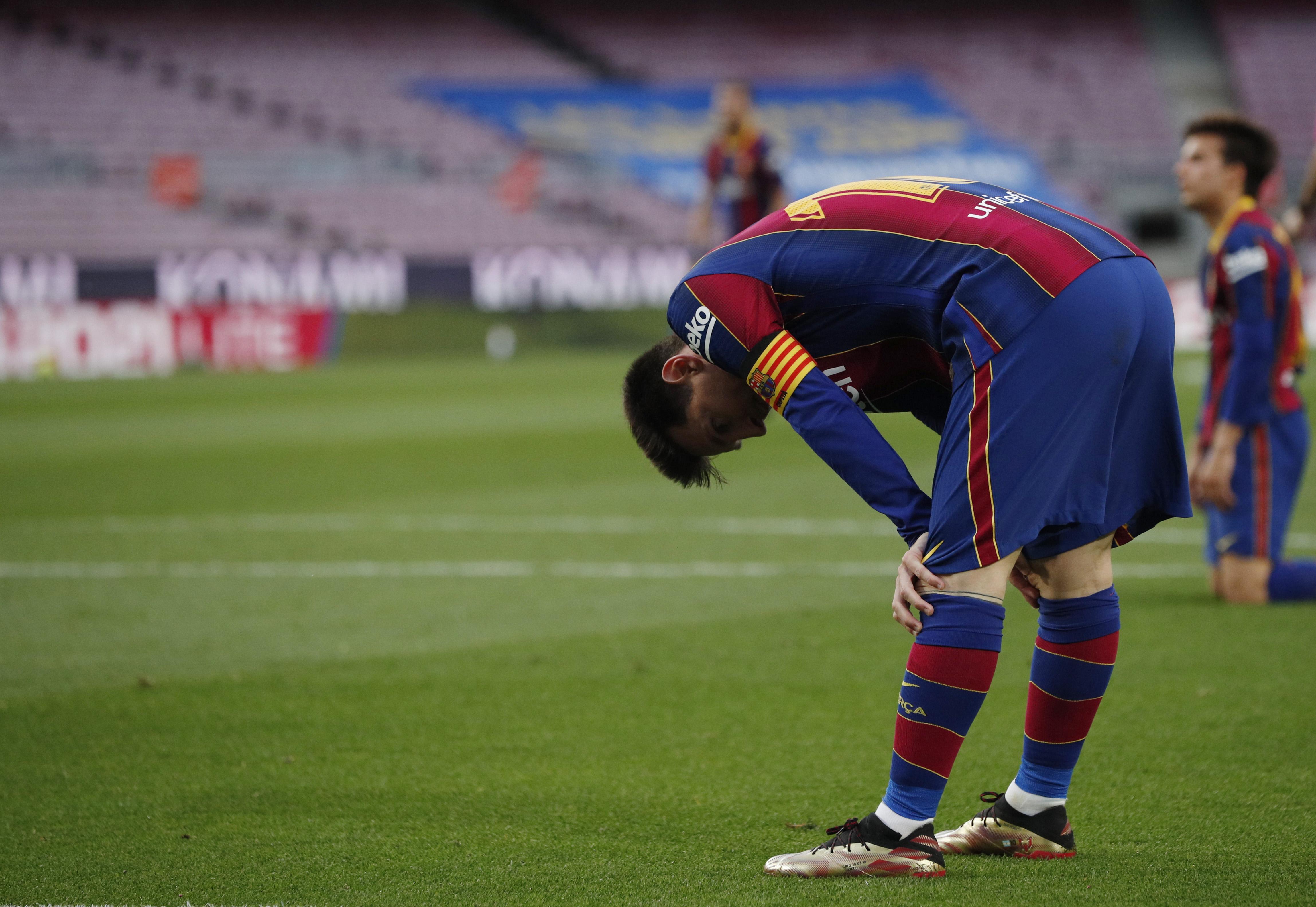 Leo Messi, este domingo en el Camp Nou.