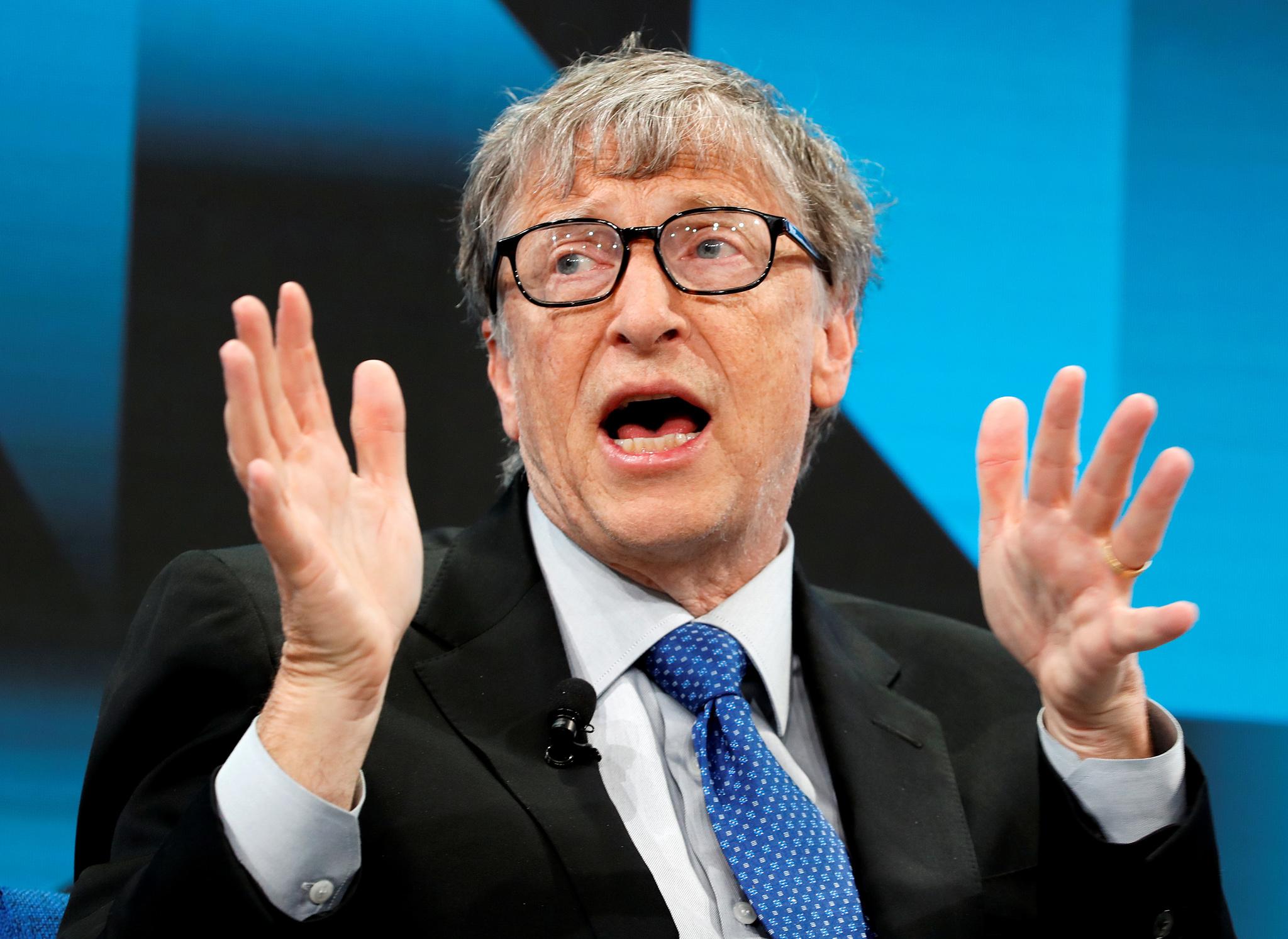 Bill Gates, en el Foro de Davos.
