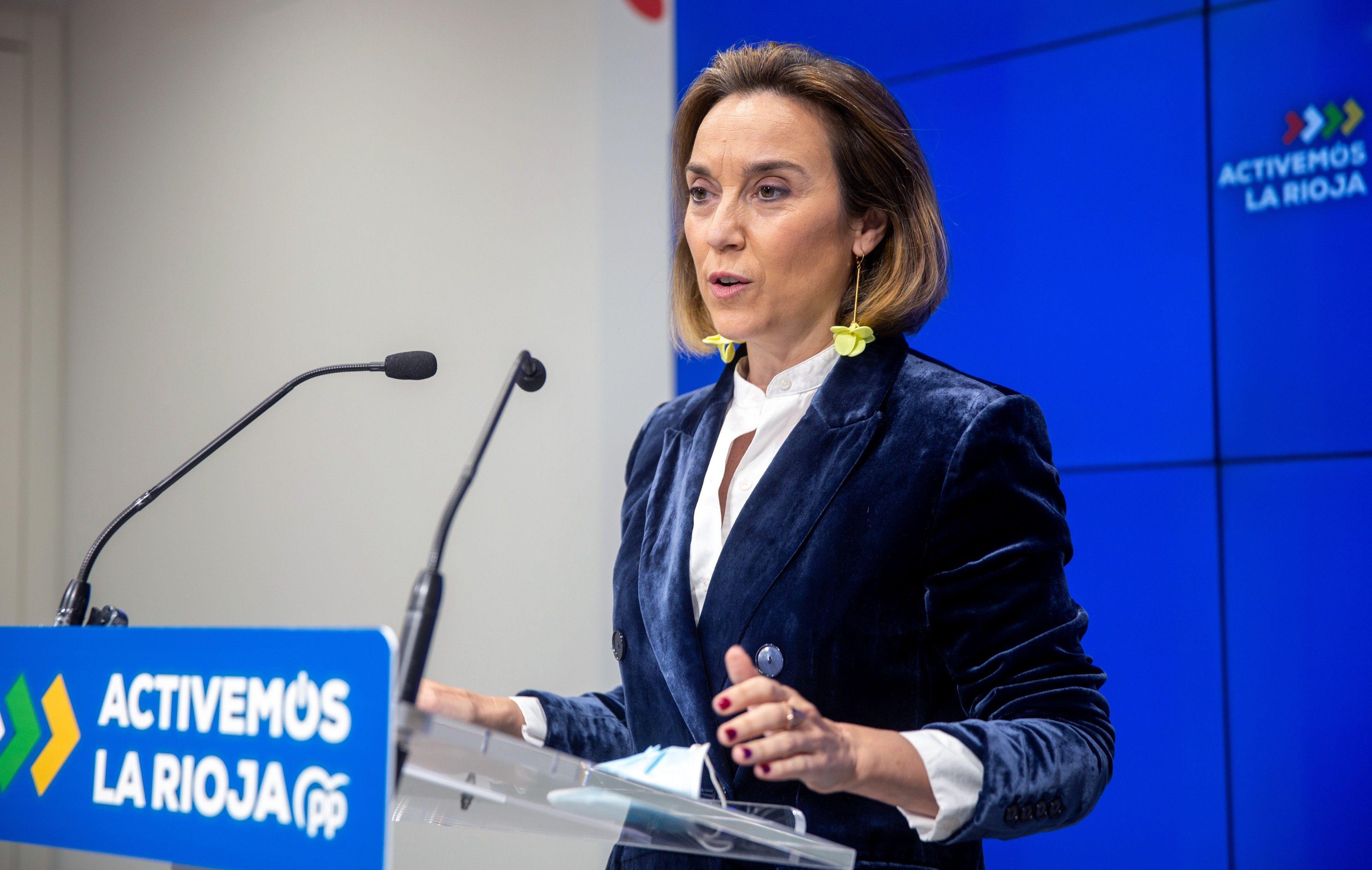 La portavoz del PP en el Congreso, Cuca Gamarra.
