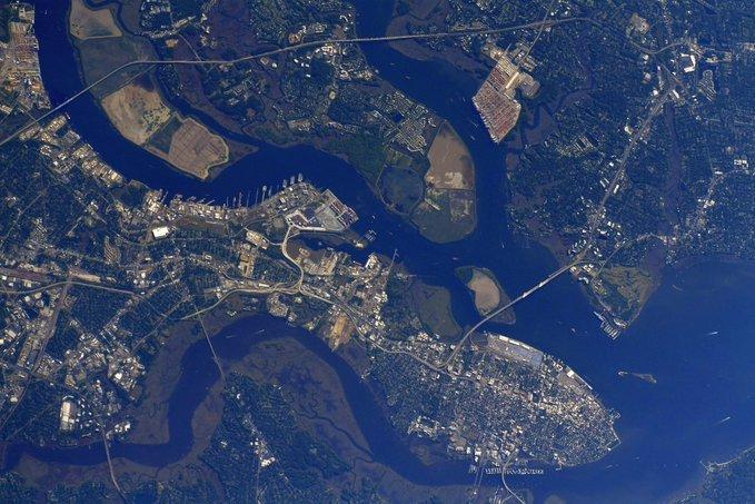 Salamanca, vista desde la Estación Espacial Internacional.