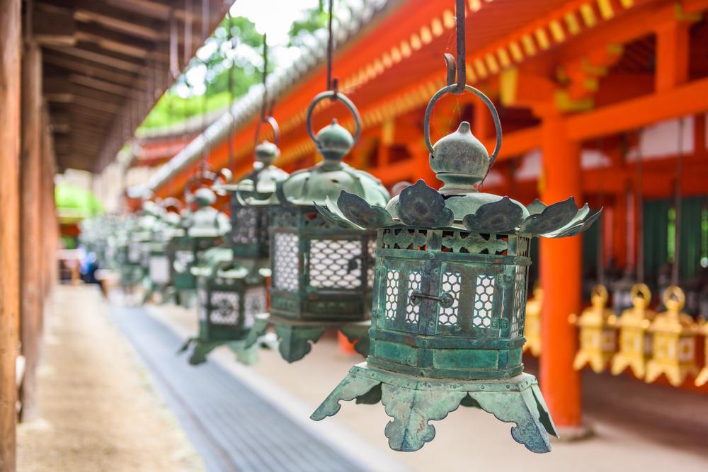Santuario Kasuga Taisha en Nara (Japón).