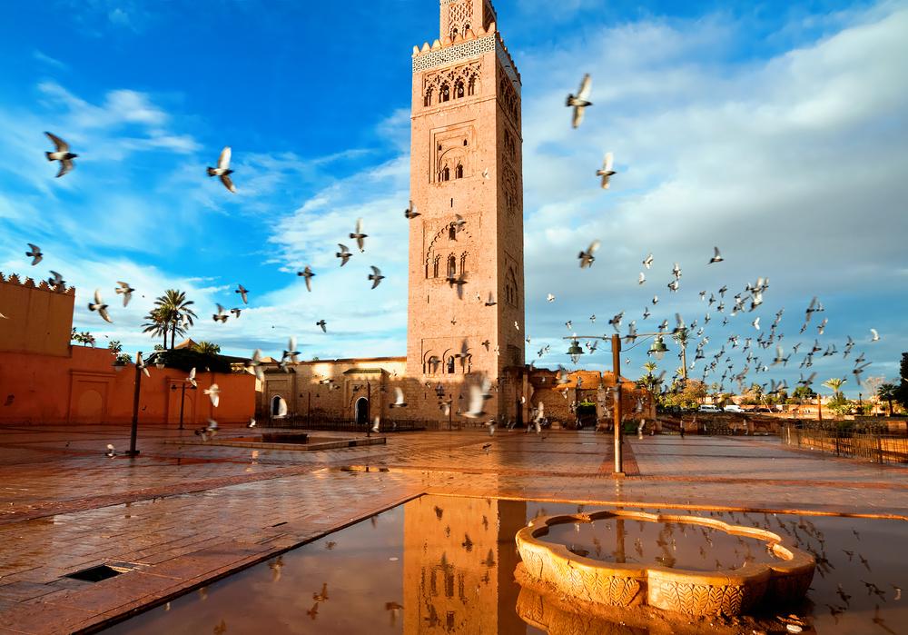 Mezquita Koutoubia, en Marrakech (Marruecos).