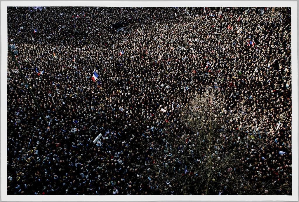 Manifestación en el París actual.