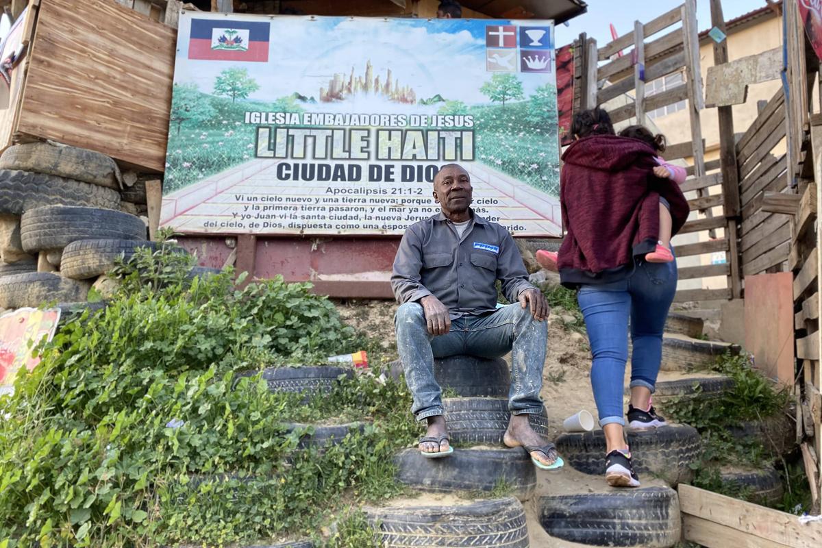 Gertrard Baptiste, haitiano que huyó de la violencia.