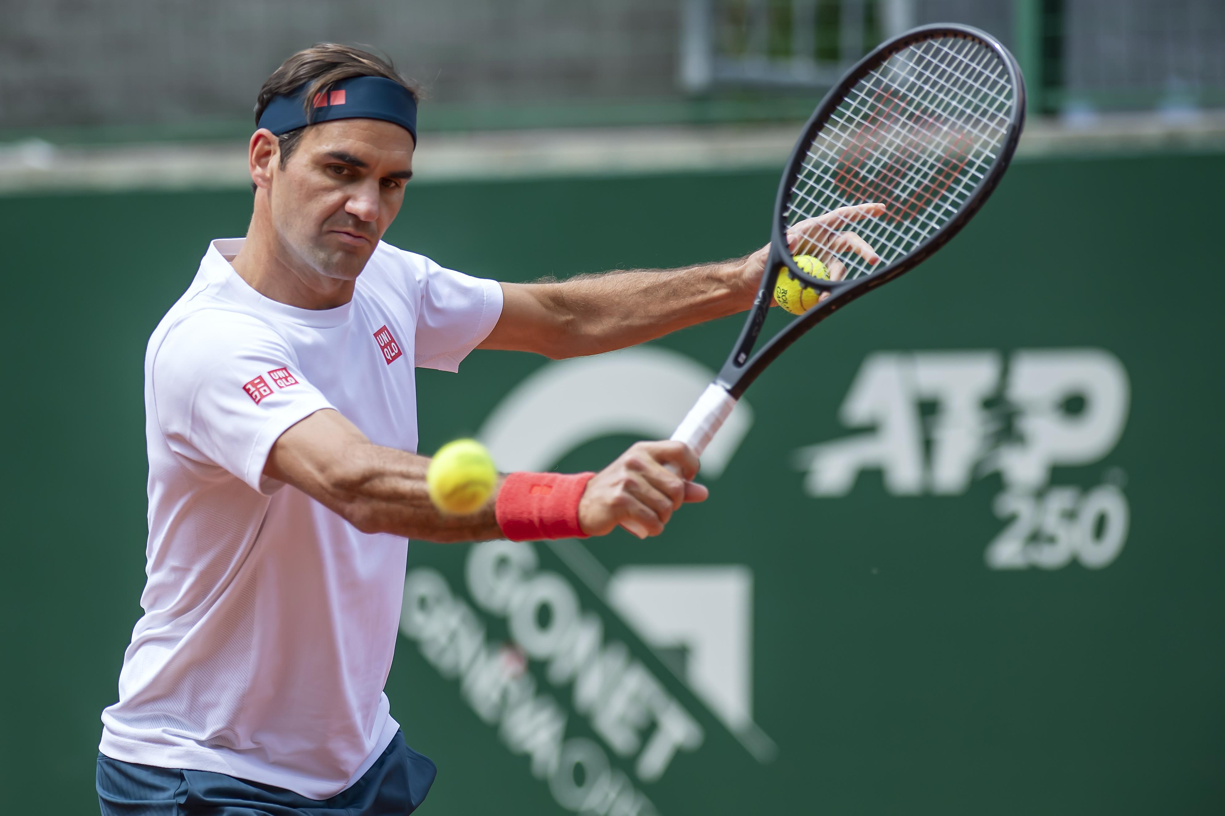 Federer, en un reciente entrenamiento en Ginebra.