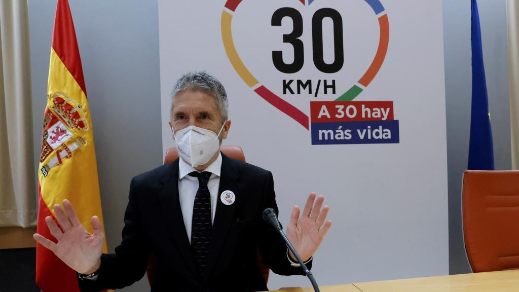Fernando Grande-Marlaska, el lunes, en un acto sobre Seguridad Vial.