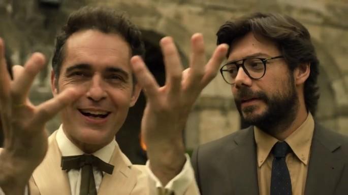 Pedro Alonso y Álvaro Morte, en La casa de papel