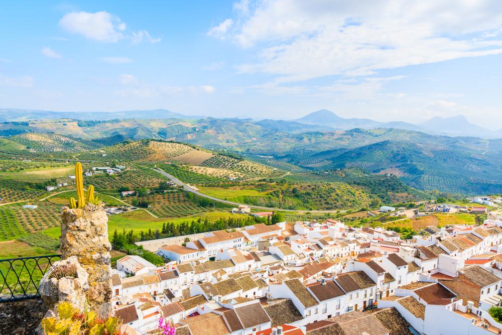 Las vistas desde lo alto del pueblo.