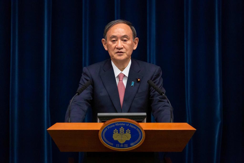 El primer ministro japonés Yoshihide Suga