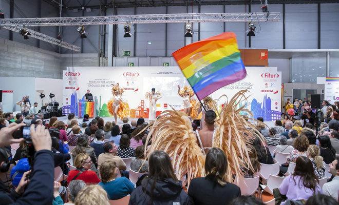 El turismo gay también se promociona en la feria.