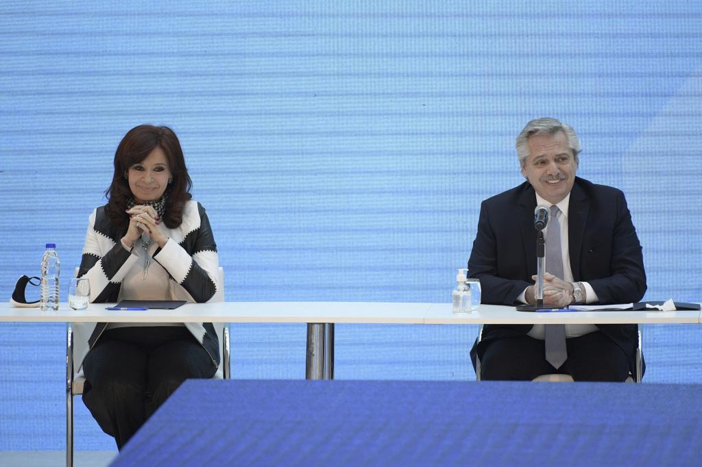 El presidente argentino, Alberto Fernández, y la vicepresidenta, Cristina Kirchner