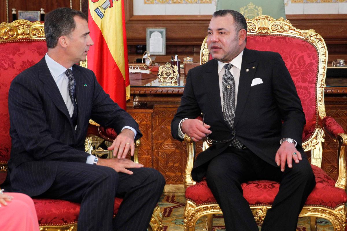 Felipe VI y Mohamed VI, en Rabat en 2014.