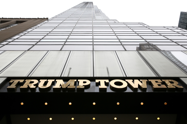 برج ترامپ ، خیابان پنجم در منهتن.