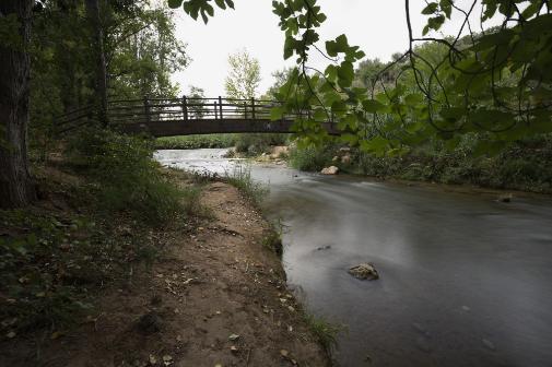 El río Mundo a su paso por Liétor (Albacete).