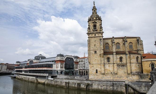 Vista del Mercado de la Ribera.