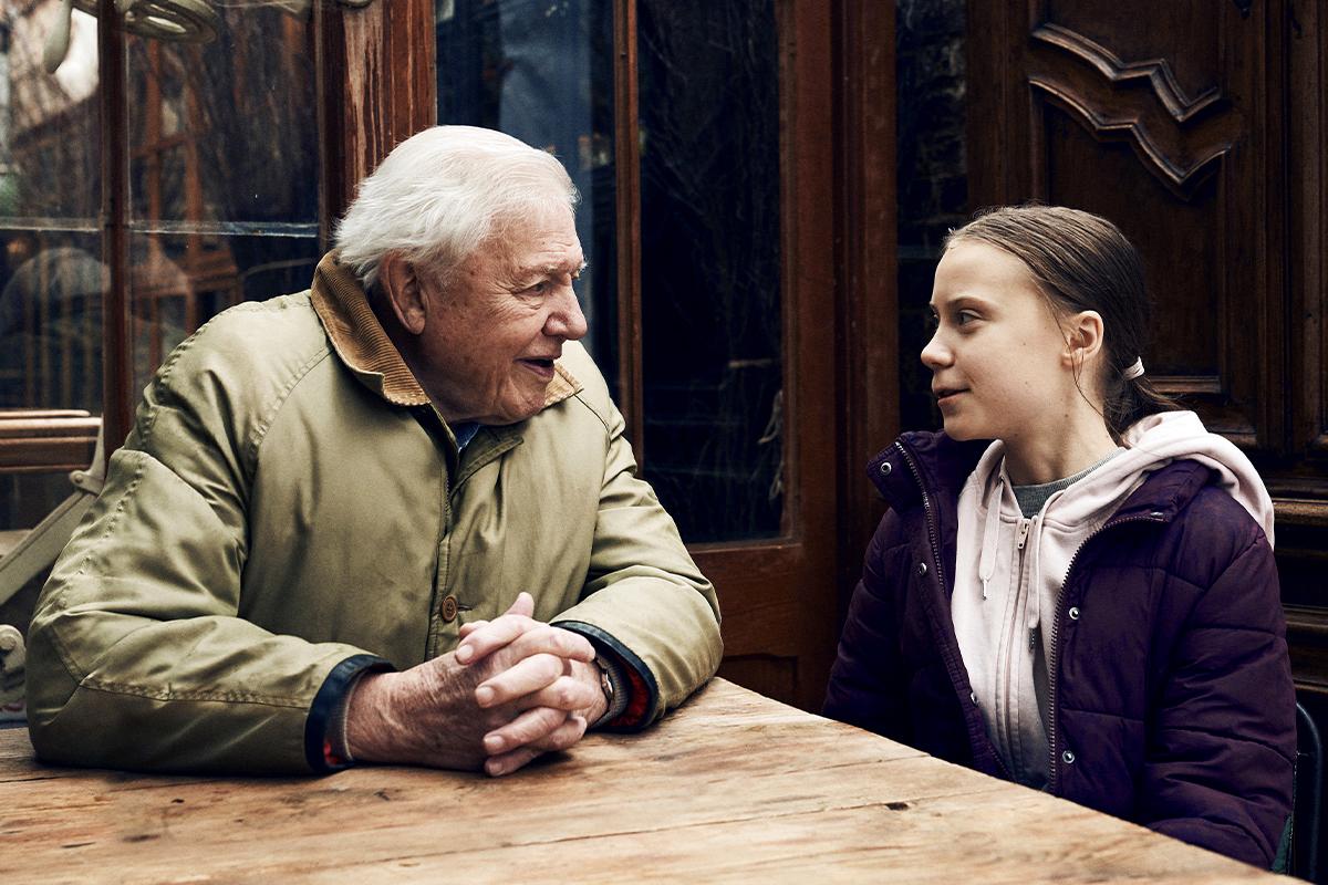 """Cuando David Attenborough conoció a Greta Thunberg: """"Debemos decir la verdad sobre el clima. Es muy preocupante pero hay esperanza"""""""