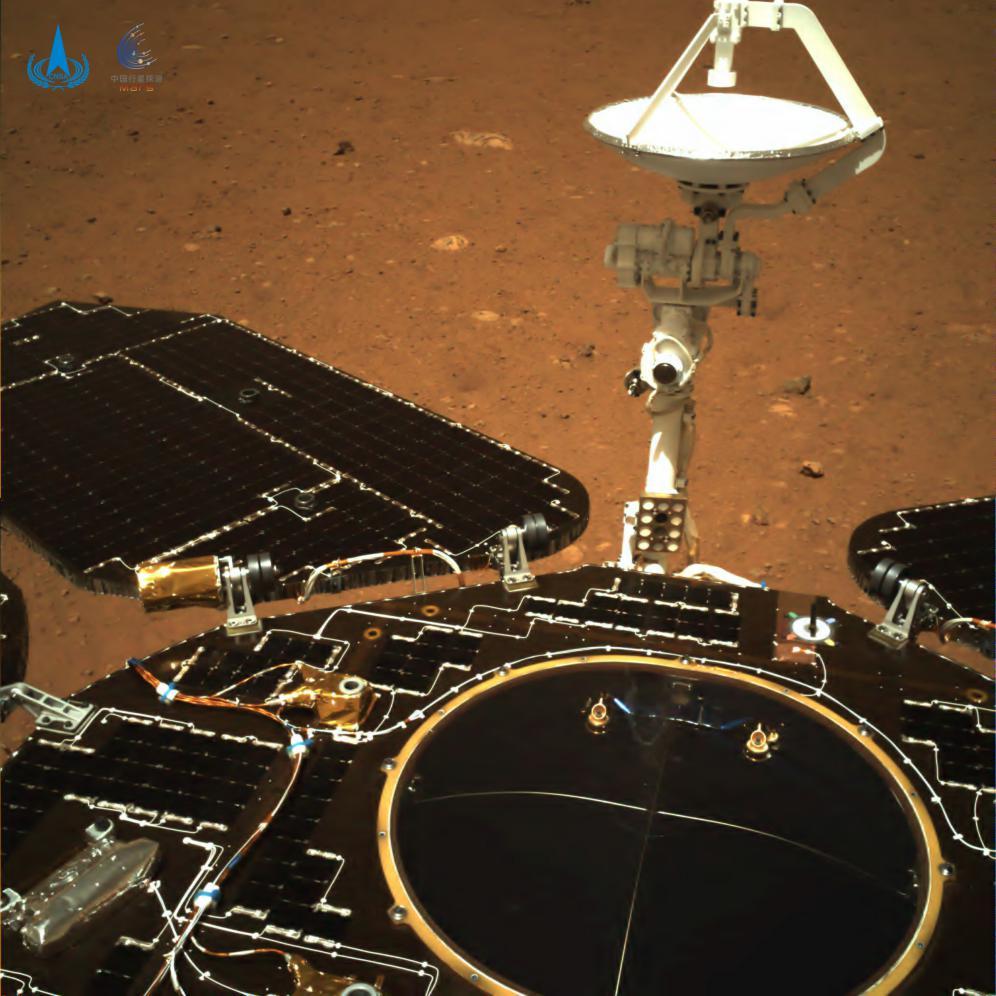 Foto captada con una cámara situada en la parte trasera del rover