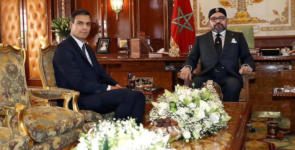 Pedro Sánchez, con Mohamed VI en Rabat en noviembre de 2018.
