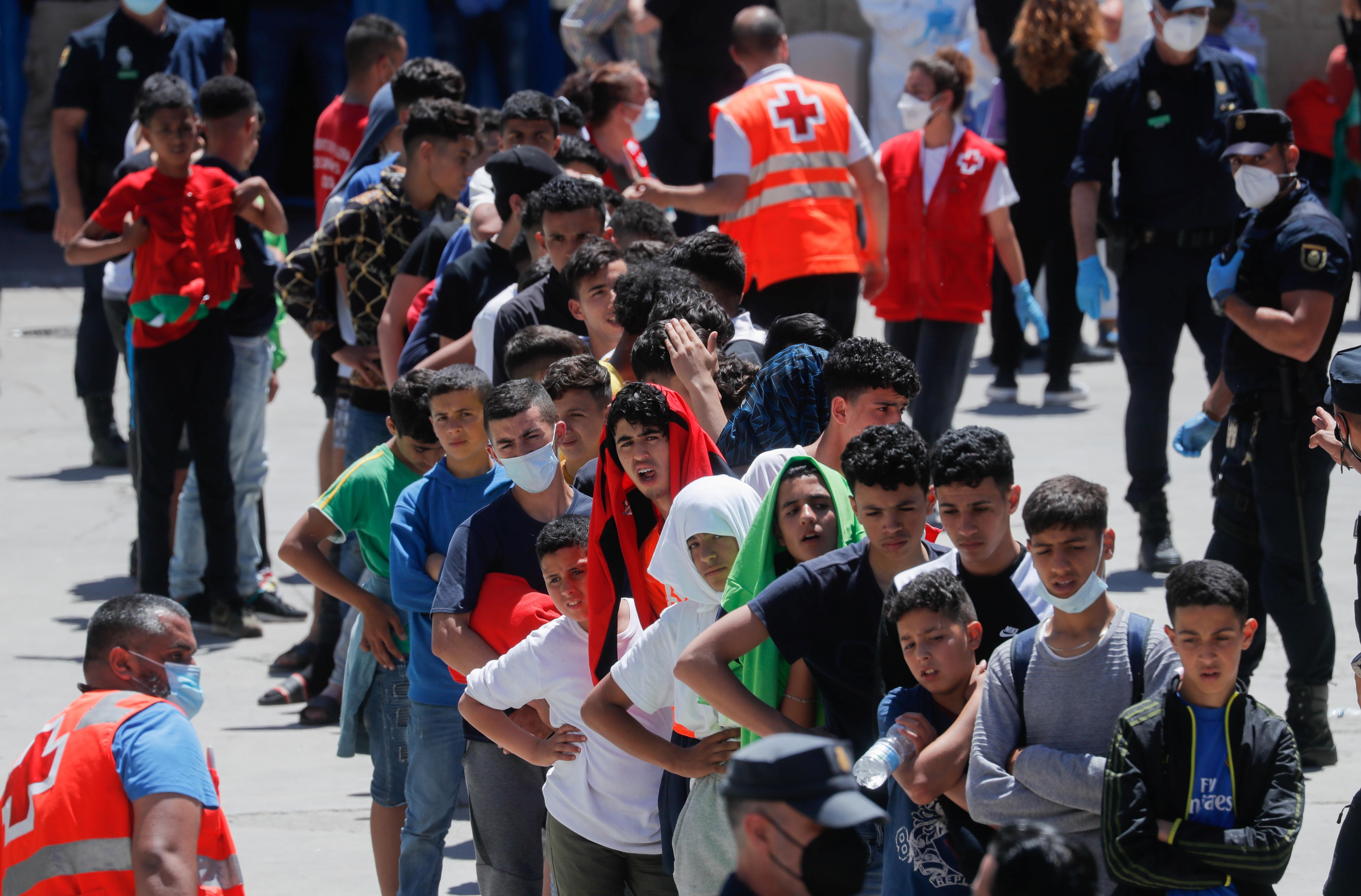 Menores marroquíes en Ceuta.