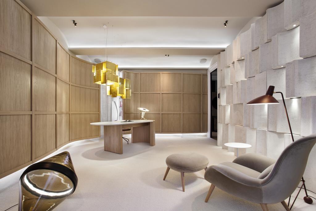 El despacho de Espacio Gira, un diseño de The Room Studio, en Casa Decor.
