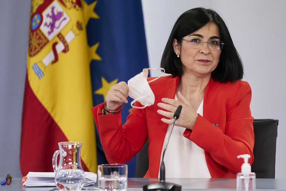 Carolina Darias, en rueda de prensa.