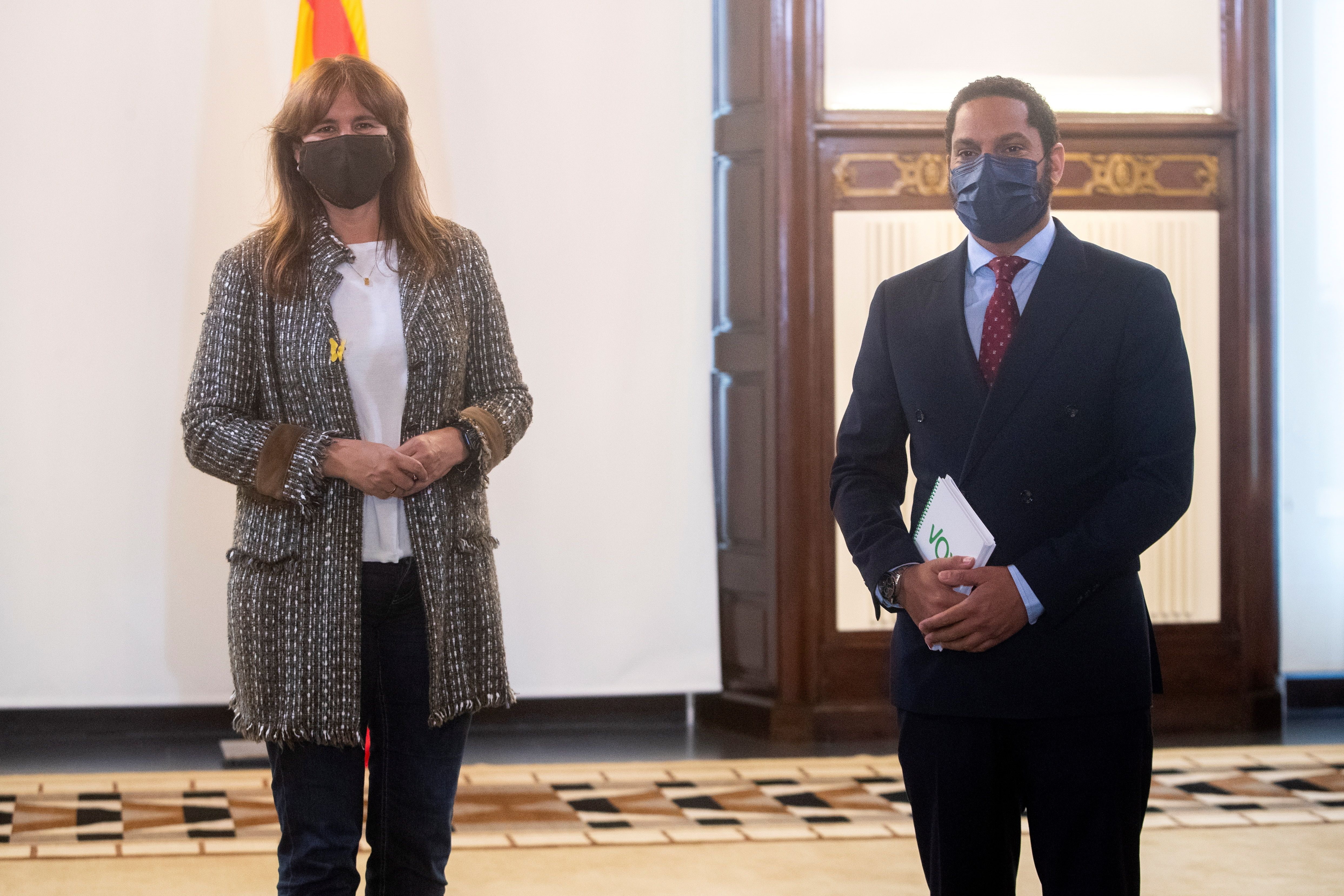 Laura Borràs e Ignacio Garriga (Vox)