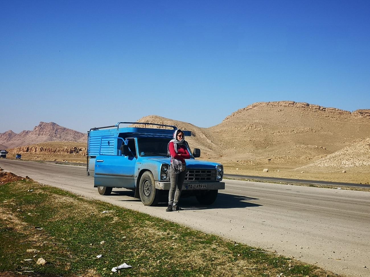 Bajando de Kermanshah (Irán).