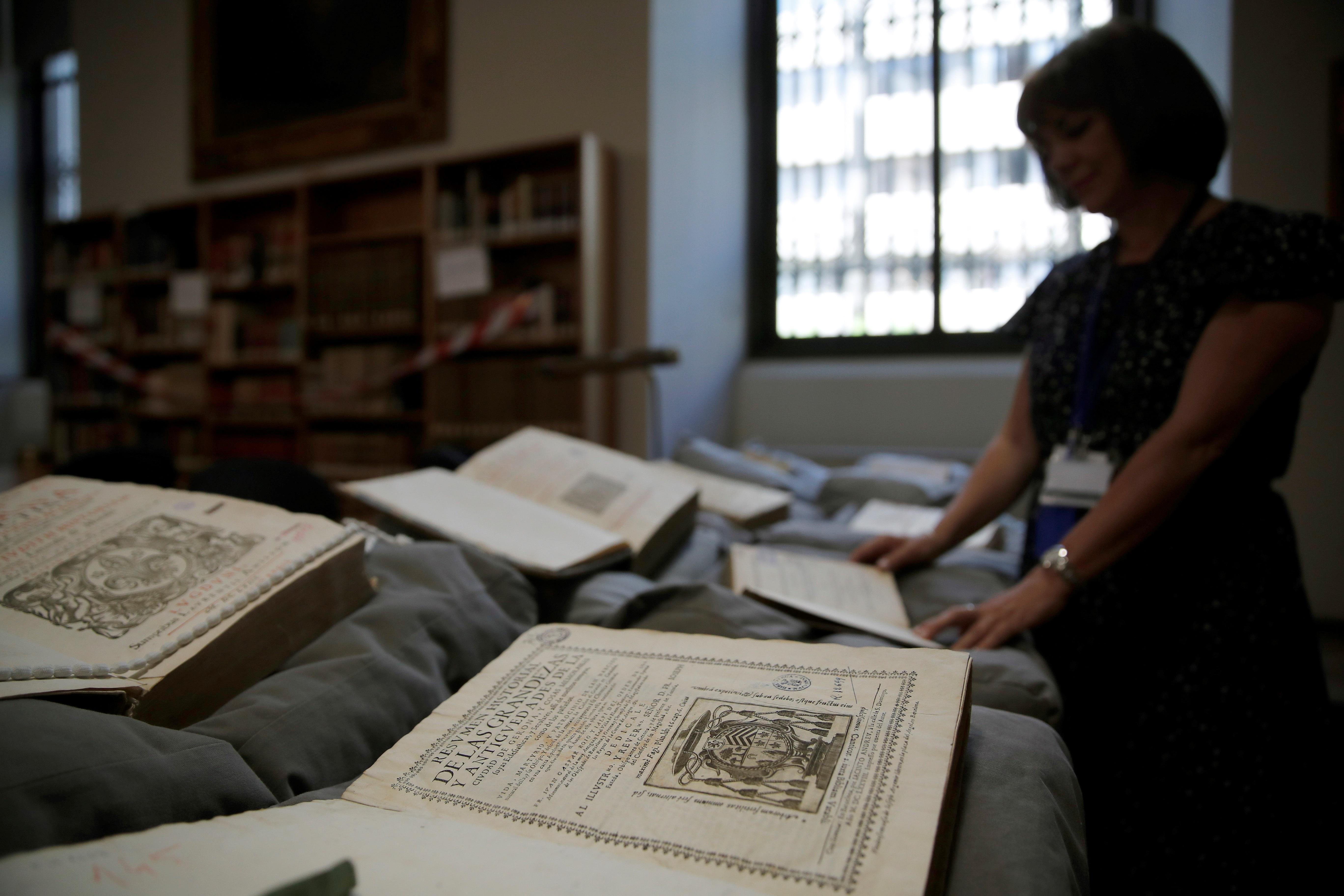 Algunos de los 400 ejemplares devueltos por la Abadía del Valle de los  Caídos