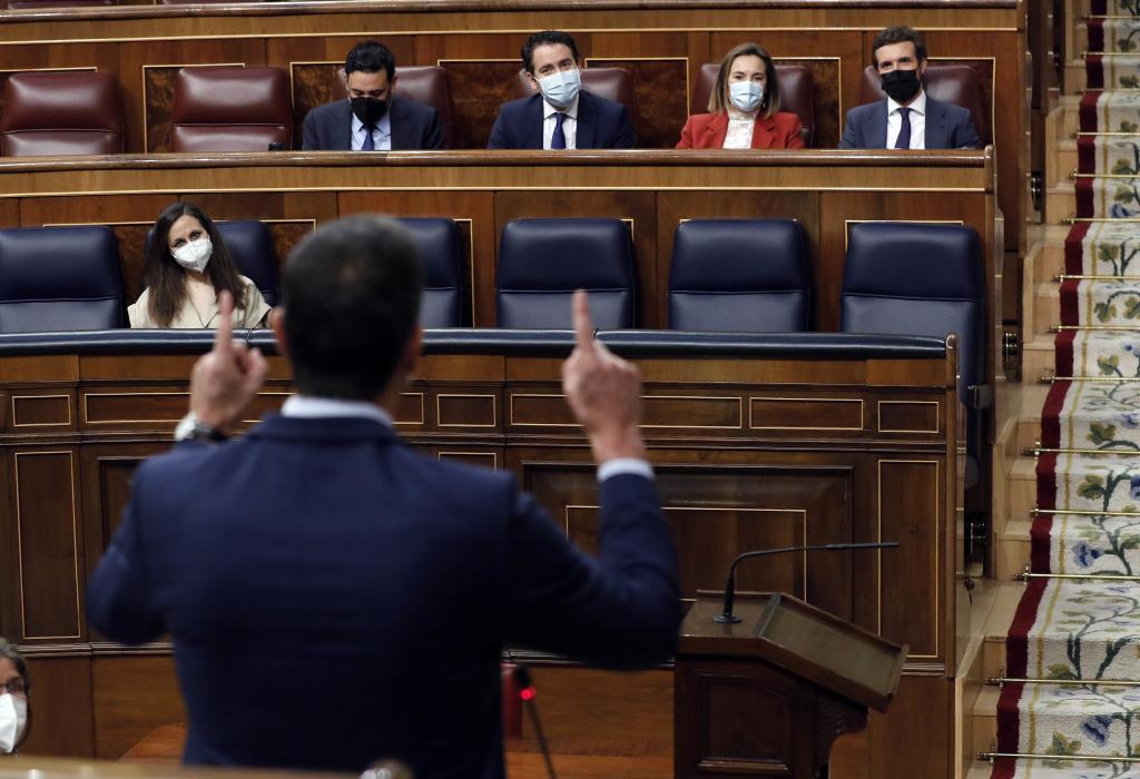 Sánchez se dirige a Casado durante la Sesión de Control del pasado miércoles