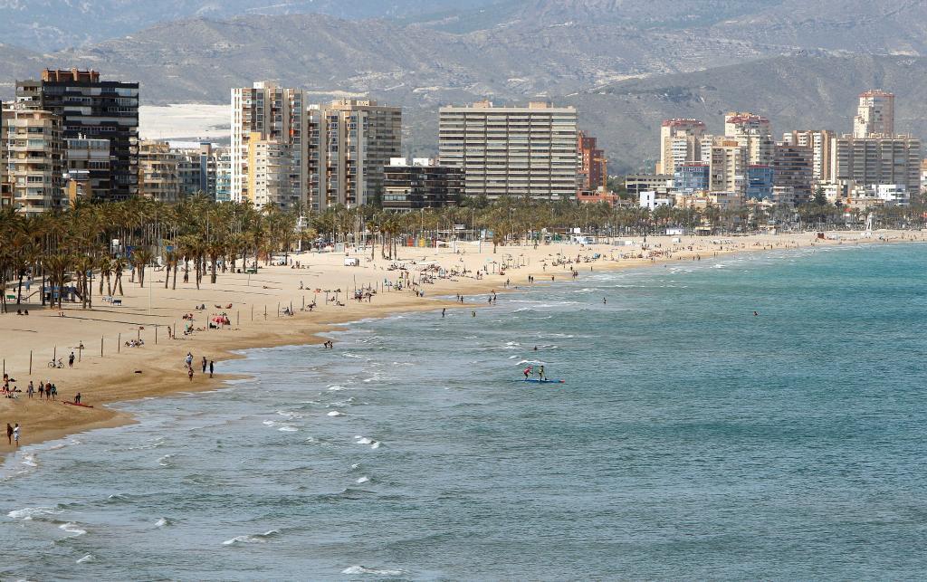 Playa de San Juan en Alicante.
