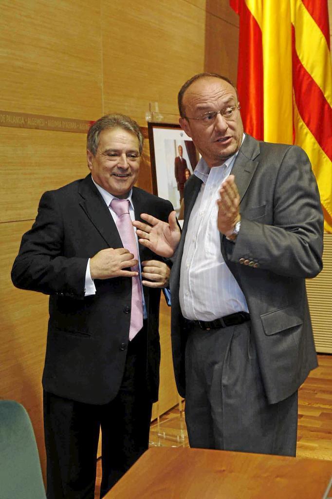 Alfonso Rus y Rafa Rubio, en 2008.
