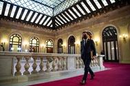 Aragonès, a su llegada al Parlament para ser investido.