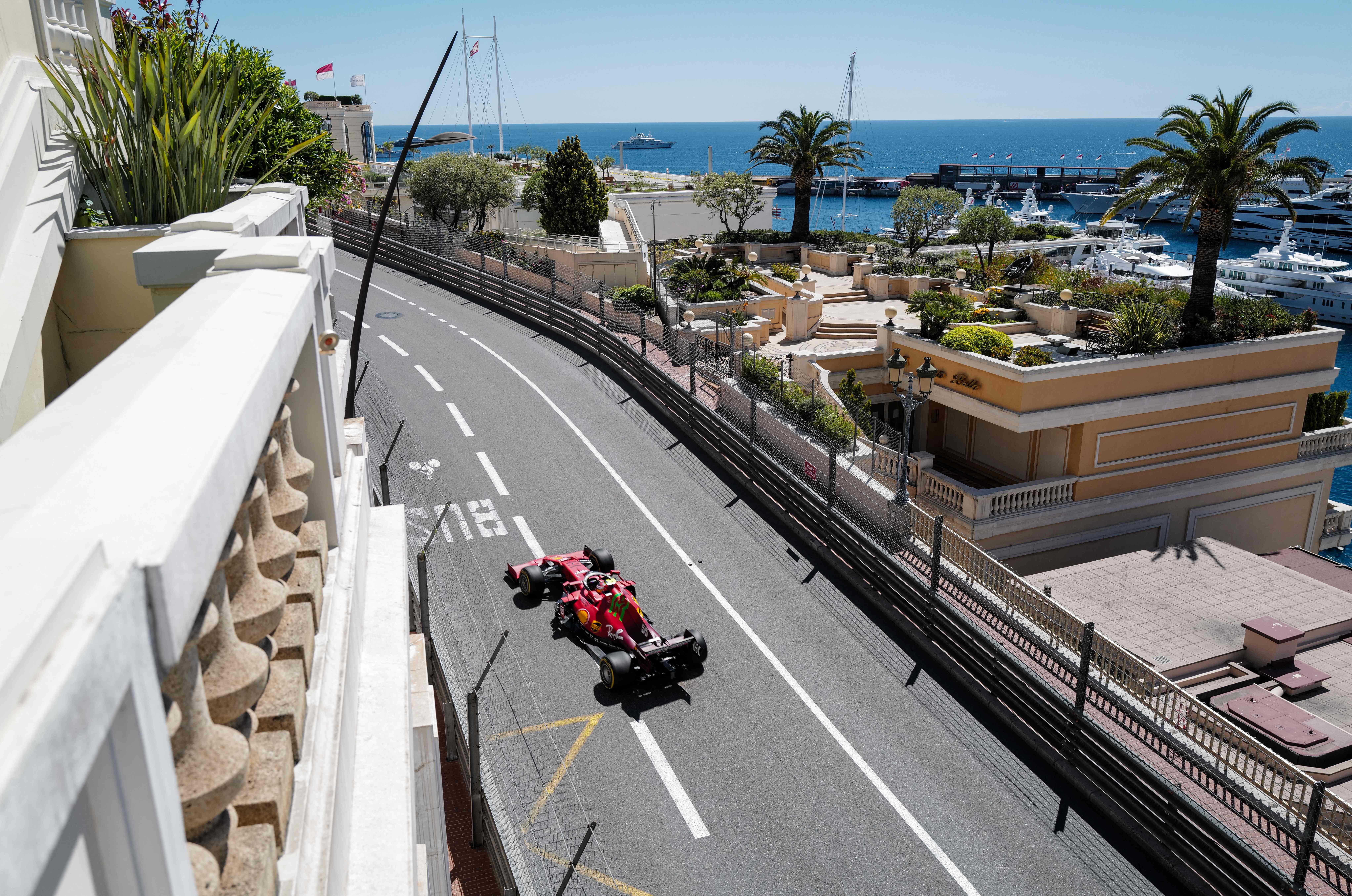 Sainz, el jueves, durante los entrenamientos libres en Mónaco.