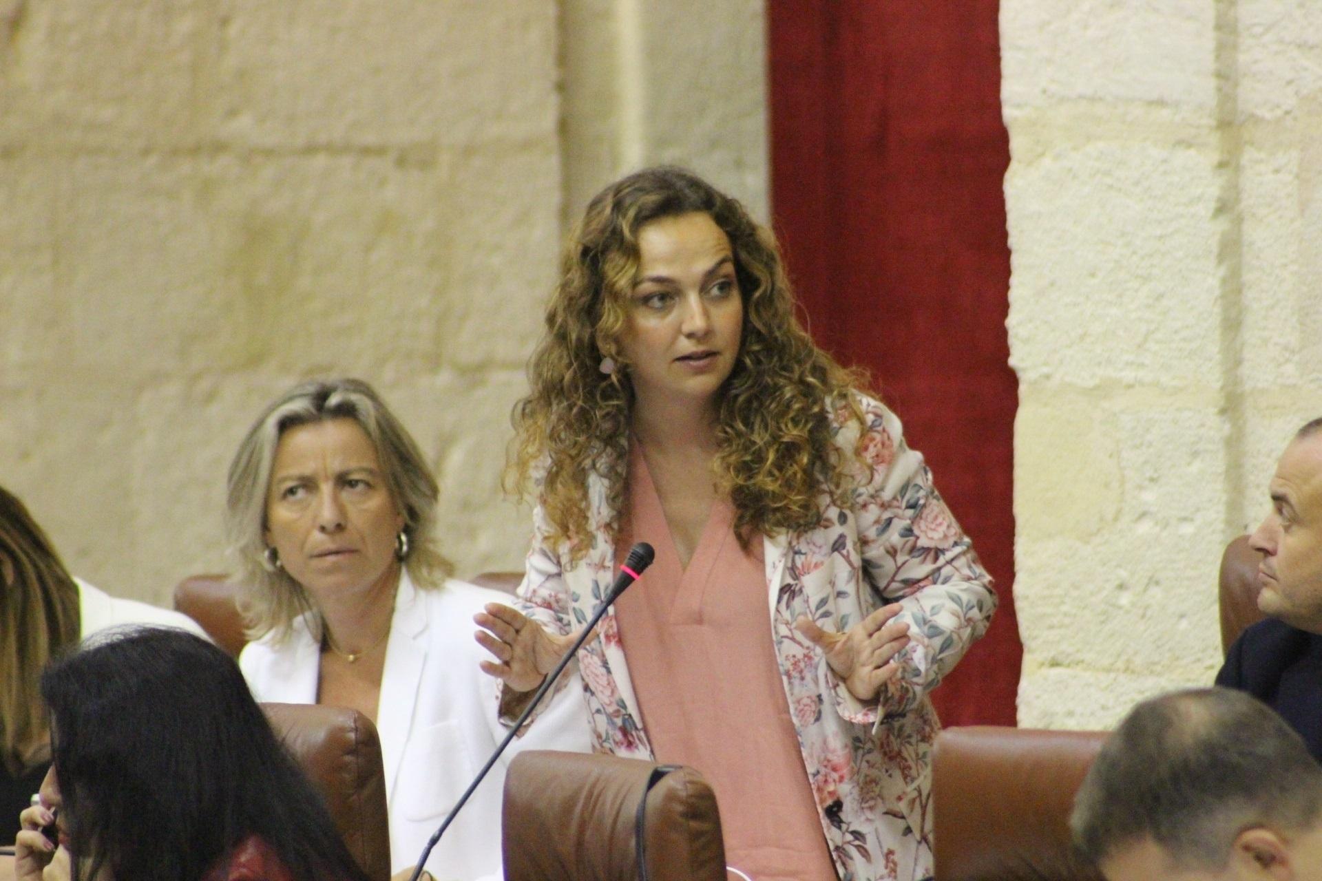 Marta Escrivá, durante una intervención en el Parlamento cuando era diputada de Ciudadanos.