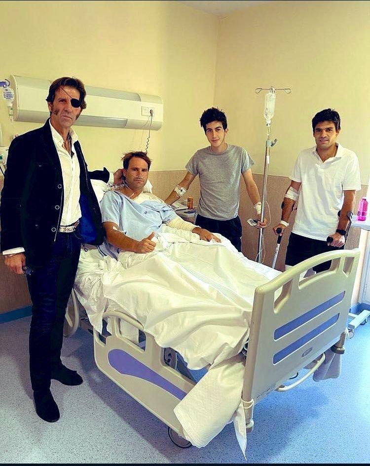Domínguez, Perera y Pablo Aguado, en el hospital donde se recuperan