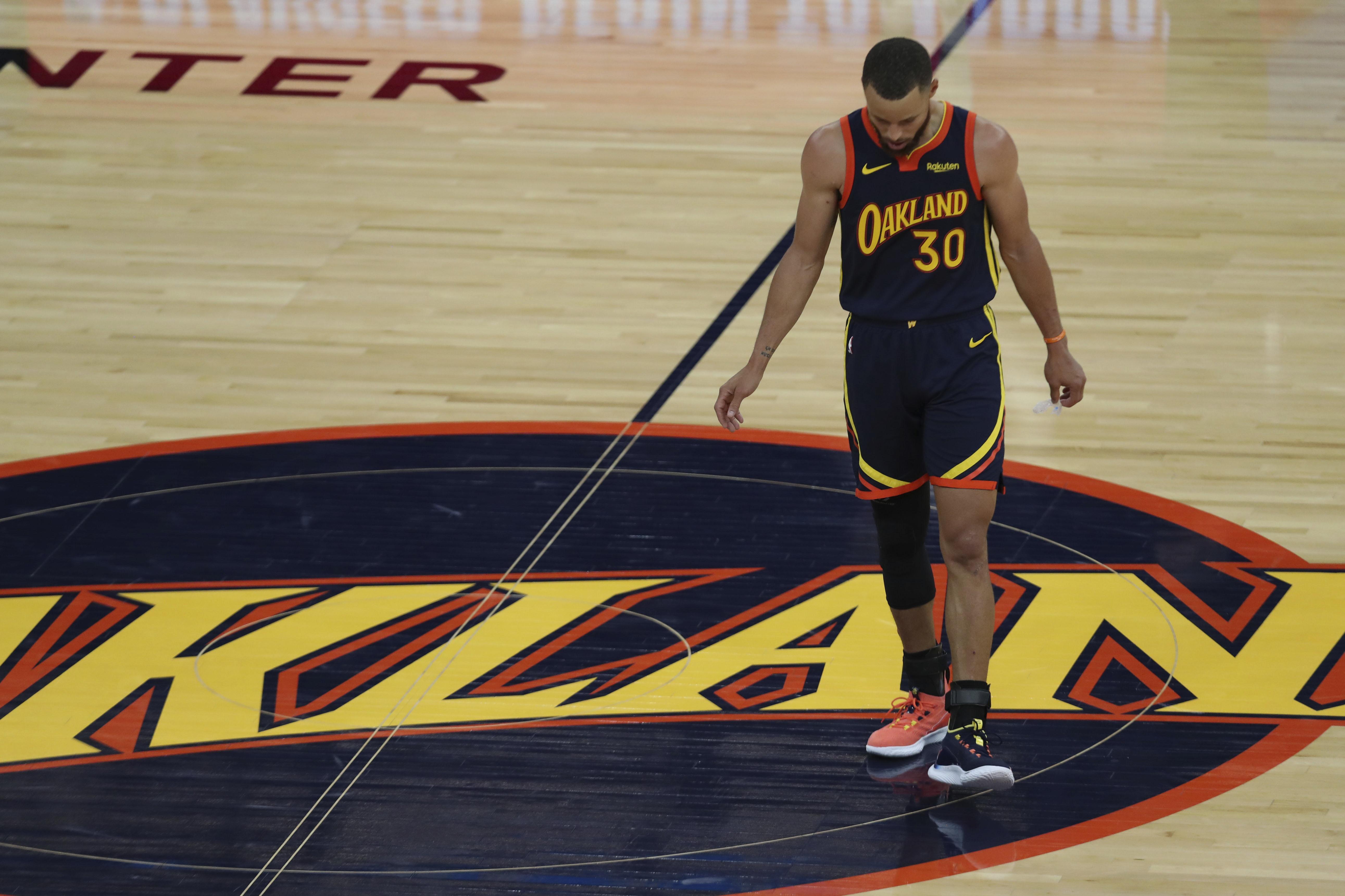Curry, al acabar el encuentro.