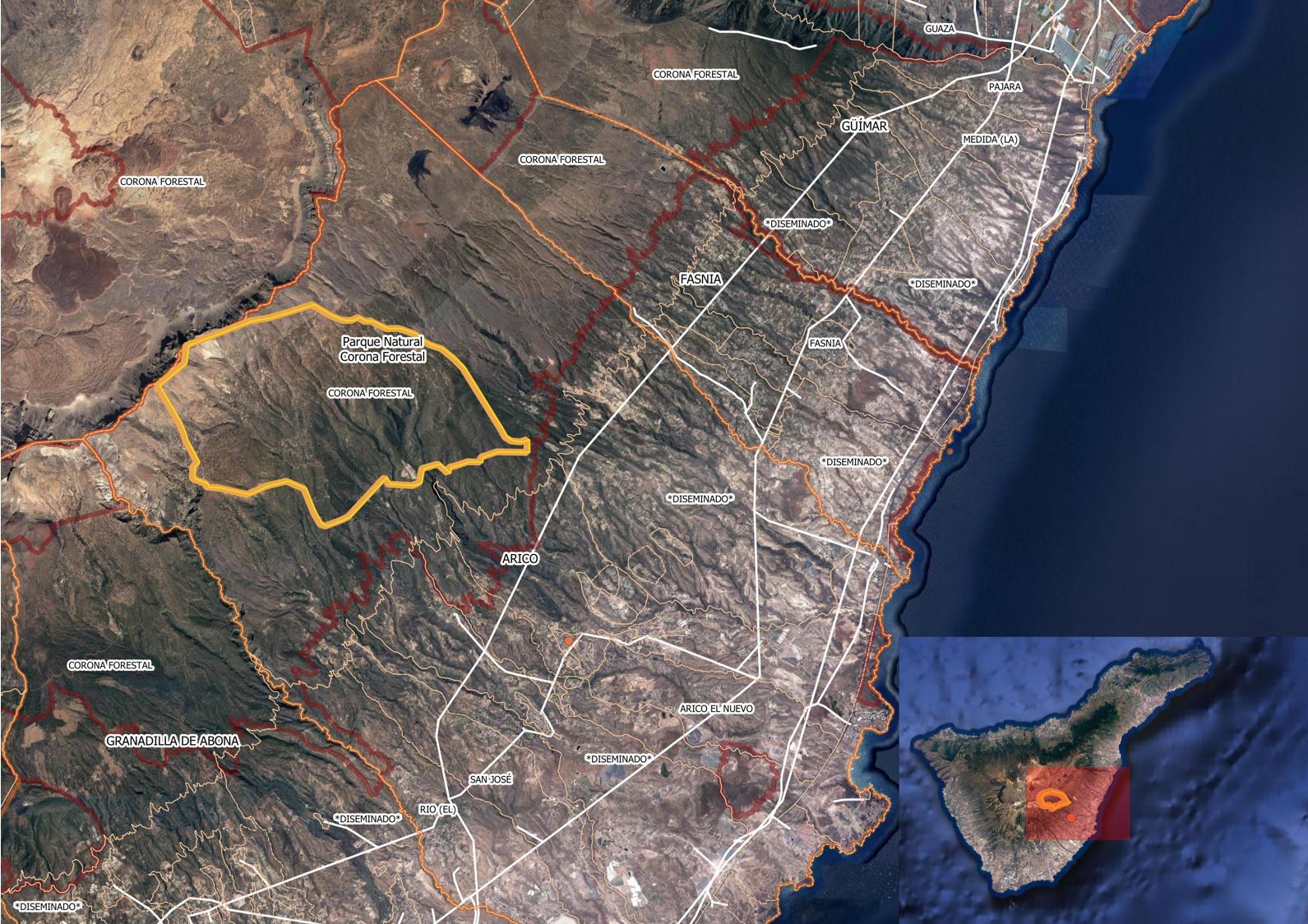 El incendio en Tenerife abarca ya una superficie de 3.300 hectáreas y se extingue en el Parque Nacional del Teide