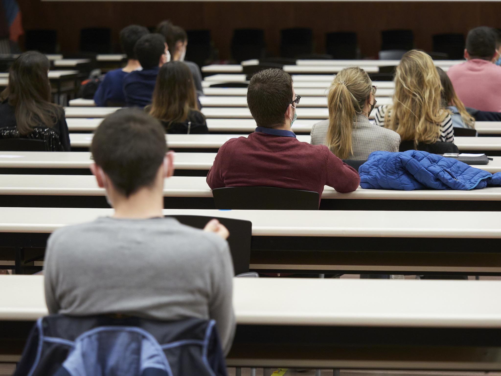 Alumnos de la Universidad pública de Navarra.