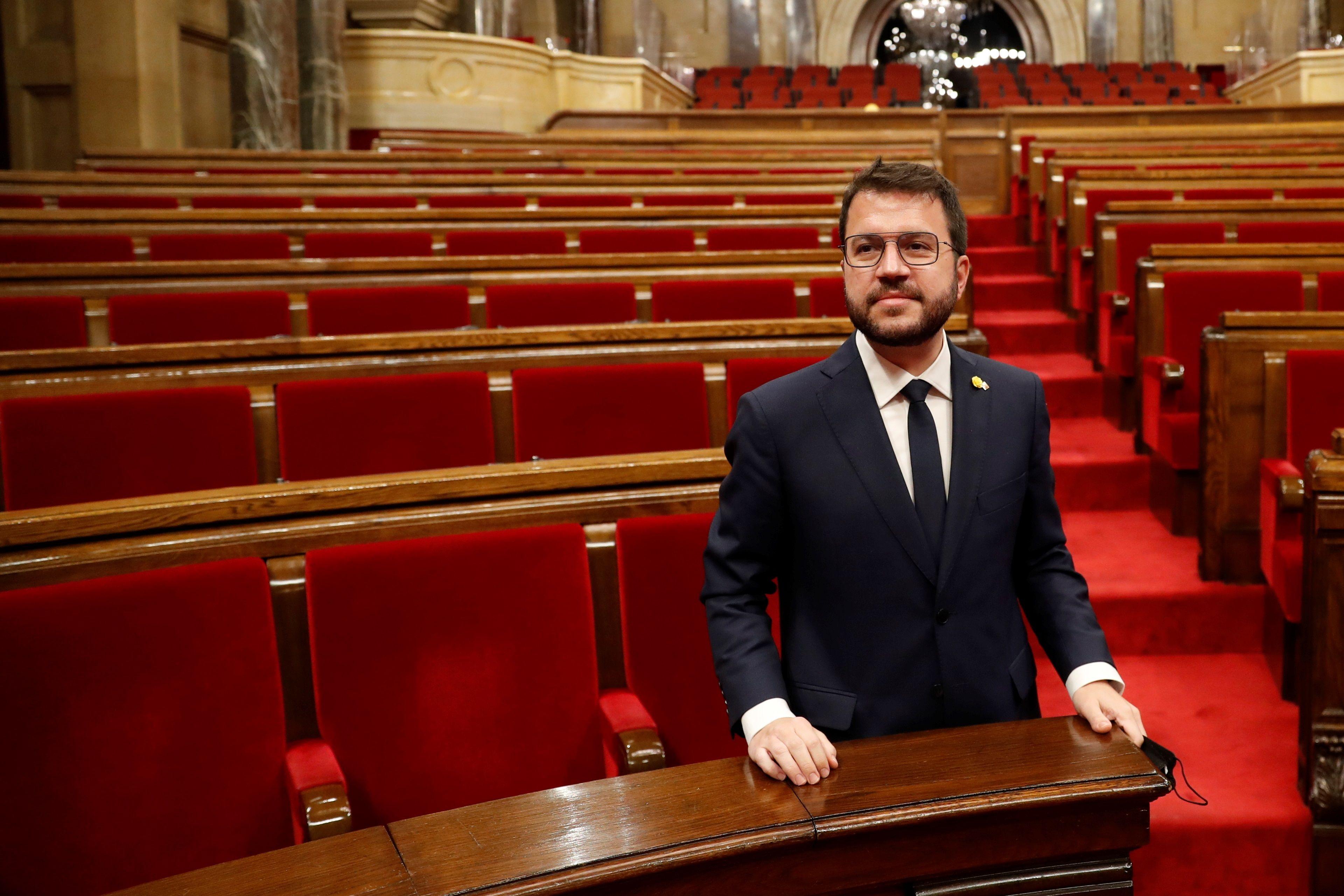 El 'president, Pere Aragonès.