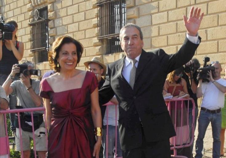 El artista y su esposa, Manuela Vargas.