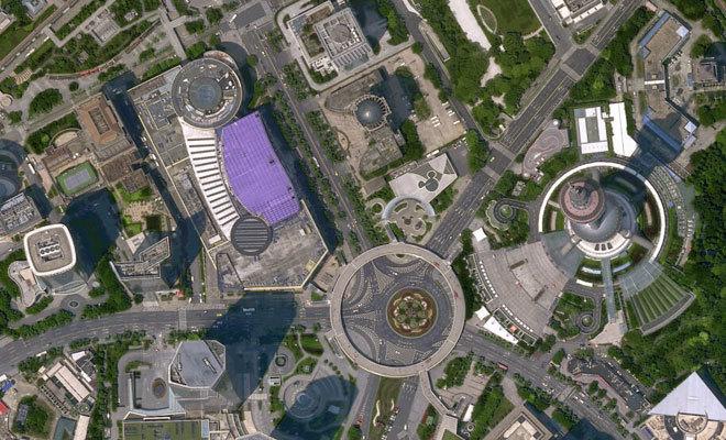 La ciudad de Shanghai bajo la mirada del satélite.