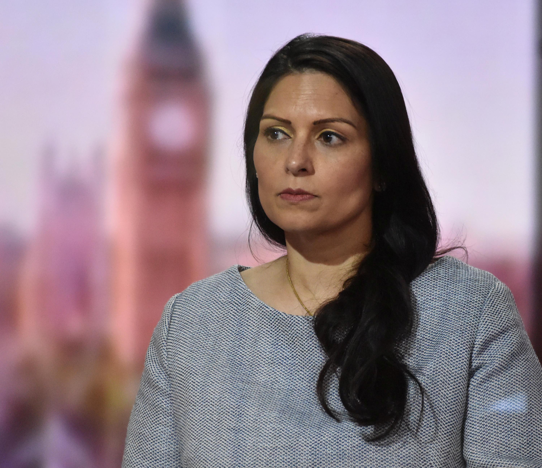 La ministra del Interior, Priti Patel.