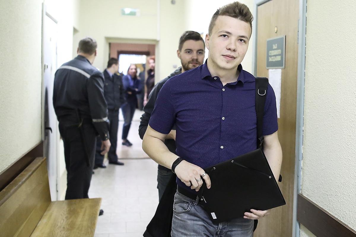 Roman Protasevich, periodista detenido en el vuelo de Ryanair.